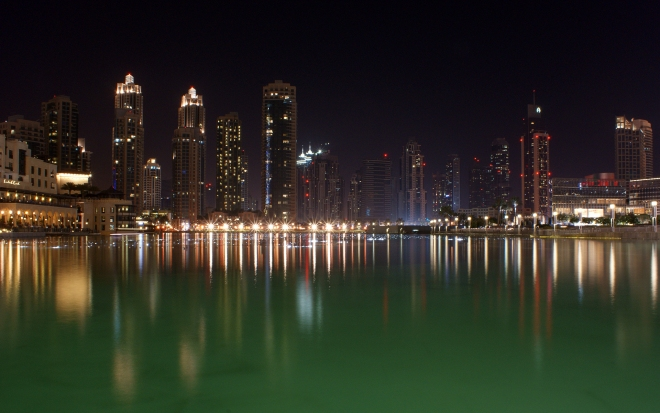Dubai At Night (Fountain)