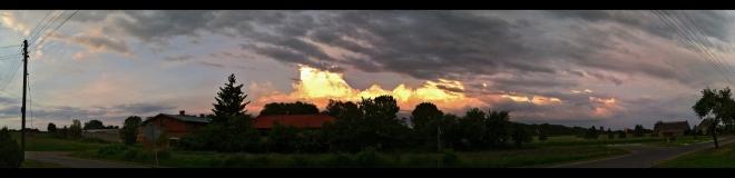 Dzwierszno Male Fire Clouds (Panorama)