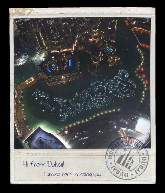Hi From Dubai (Burj Khalifa) No. 2