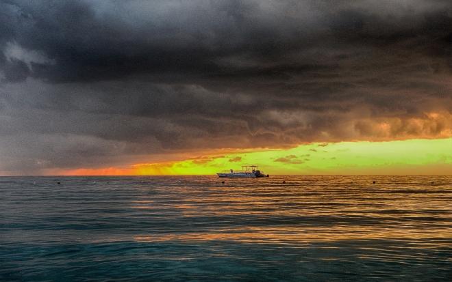 Jamaica Sunset Boat